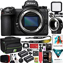 Nikon Z6II Mirrorless Camera Body FX-Format Full-Frame 4K UHD 1659 Bundle with FTZ Lens Mount Adapter + Deco Gear Bag Case + Extra Battery + Photography LED + Photo Video Software Kit & Accessories
