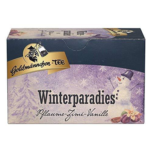 Goldmännchen Wintertee Winterparadies, 20 einzeln versiegelte Teebeutel, 6er Pack (6x 50 g)