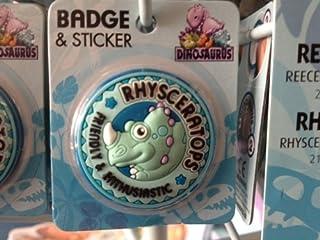 RHYS–Dinosaurus personnalisée Nom Badge