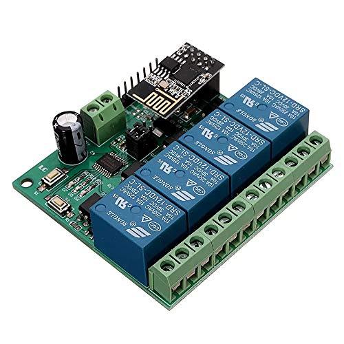 Repair Tools Herramientas de Bricolaje, DC12V ESP8266 de Cuatro Canales WiFi relé IOT Smart Home Teléfono aplicación de Control Remoto Interruptor de Control