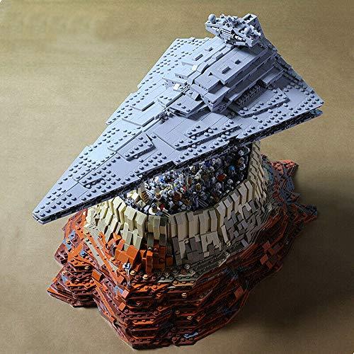 Modbrix Bausteine Sternenzerstörer Empire Over Jedha City MOC, 50 cm, 5098 Klemmbausteine