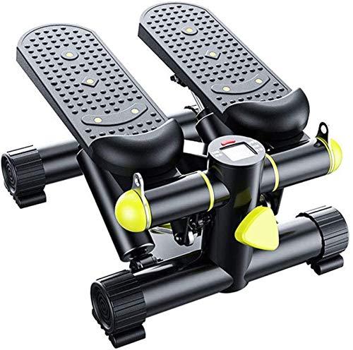 HMBB Máquinas de Fitness del Paso de Entrenamiento de Cardio con Pantalla LED - Máquina de Ejercicios de Cardio de la máquina de Pasos en el hogar con Bandas de Resistencia - 300 lbs MAX Cargar