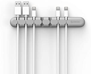 ORICO 7 Channel Desk Cable Clips Cable Management Cord Organizer Wire Cord Holder for Power Cords and Charging Accessory C...