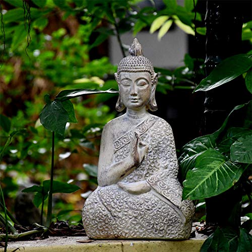 RNNTK Garden Religious Buddha Statue Sculptures, For Office Outdoors Lawn Courtyard Ornaments Zen Garden Statue,Decor Home Garden Figurines Buddha-Small