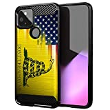 CasesOnDeck Case Compatible with Google Pixel 4A 5G (2020) - Soft Fitted Flexible TPU Cover Shock Protection (Dont Tread On Me)
