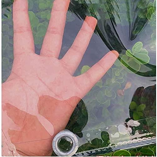 Lona de PVC transparente impermeable de plástico suave para balcón, ventana, cortina de lluvia, tela de protección solar, toldo plegable (0,35 mm/365 g/m²) (tamaño: 1,2 x 3 m/3,9 x 9,8 pies)