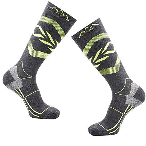 JFF Skisocken Warme Baumwollsport-Outdoor-Socken Für Den Winter Skifahren Snowboarden Skaten Wandern Angeln Wandern Radfahren,H,M
