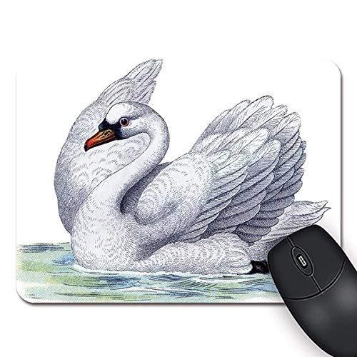 Yanteng La Mejor Alfombrilla de ráton Antideslizante del ratón del rectángulo Libre del Cisne Mousepad estándar
