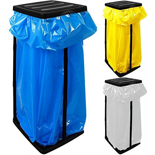 3x Deuba Müllsackständer für Müllsäcke bis max. 60 LITER 3-fach höhenverstellbar - Müllsackhalter Abfallbehälter Müllbeutelhalter