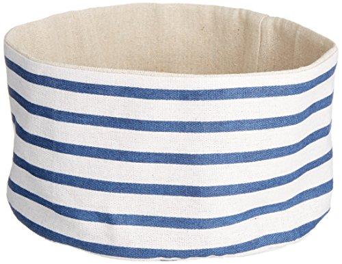 HEITMANN DECO - maritimer Stoffbeutel - Dekoration für Wohnung und Haus - für Tisch und Fensterbank - Brotbeutel
