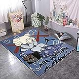 CYSGJ Animación Sesame Street Patrón 3D Impresión Alfombra Suave, Sala De Estar Sofá Área Alfombra, Alfombra para Gatear Bebé 120 * 160cm