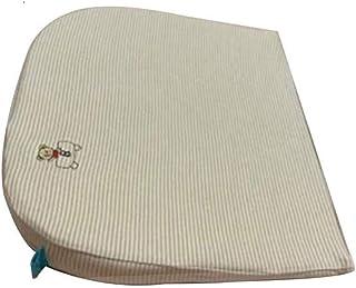 KH Baby Anti-Spit Milk Wedge Pillow Newborn Reflux Slow Rebound Memory Foam Sleeping Pillows Infant Crib (stripe)