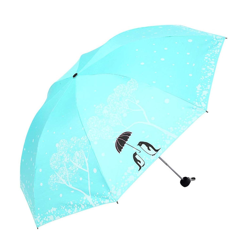 にじみ出る仲人一般折りたたみ傘 レディース メンズ 晴雨兼用 折り畳み 男女兼用 高密度 耐風撥水 UVカットペンギン柄 カップル 綺麗 超軽量 携帯しやすい 涼しい UPF40+紫外線遮蔽率99% 完全遮光 梅雨 ミニ 雨傘 日傘 6色