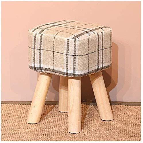 Tela de madera maciza Moderna Plaza Simple Simple Sala de estar Dormitorio Sofá Sofá Shool Shoe Taburete,C