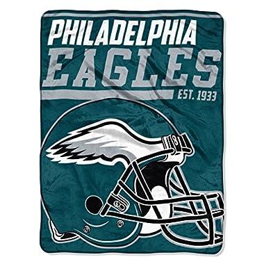 The Northwest Company NFL Philadelphia Eagles 40-Yard Dash Micro Raschel Throw, 46  x 60 , Midnight Green