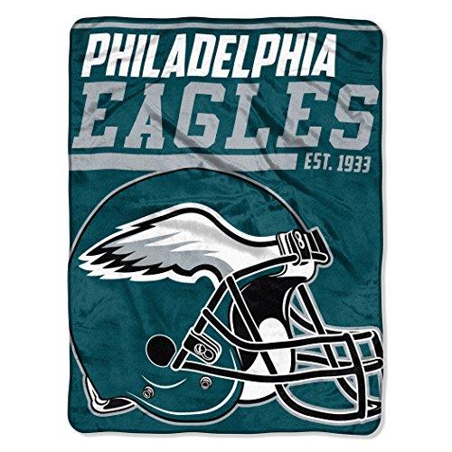 The Northwest Company NFL Philadelphia Eagles 40-Yard Dash Micro Raschel Überwurf Plüschdecke 117 x 152 cm , Grün/Midnight Green