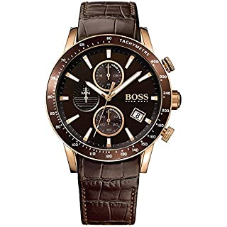 Hugo Boss Homme Chronographe Quartz Montres bracelet avec bracelet en Cuir - 1513392 (B01M0W5QBR) | Amazon price tracker / tracking, Amazon price history charts, Amazon price watches, Amazon price drop alerts