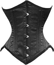 double steel boned underbust waist training corset