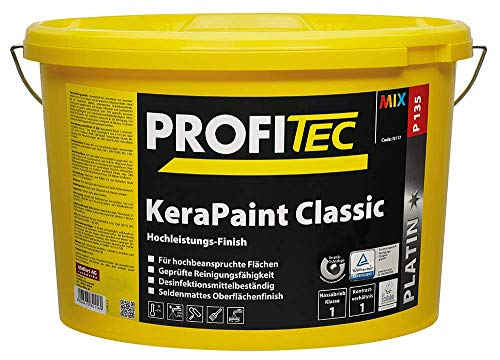 ProfiTec P135 KeraPaint Classic - Wandfarbe | Hochleistung | Deckenfarbe | Innenfarbe | Weiß | 5 Liter