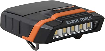 Klein Tools 56402 Cap Visor Clip Light, LED Clip on Light, Pivoting Head, 2 x AAA Batteries Included