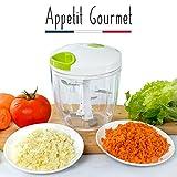 Appetit Gourmet Hachoir Legumes Hachoir Manuel 5 Lames Inoxydables Large Capacité 900ML pour Couper...