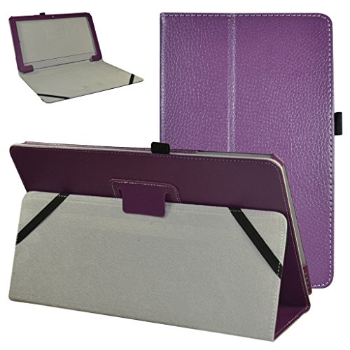 MAMA MOUTH TrekStor SurfTab twin 11.6 Case, PU Leather Folio 2-folding Stand Cover with Stylus Holder for 11.6' TrekStor SurfTab twin 11.6 Windows 10 Tablet PC,Purple