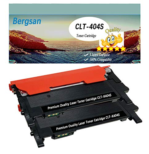 Bergsan 2 Schwarz Toner XL kompatibel zu Samsung CLT-K404S Samsung Xpress C430 C430W C480 C480W C480FN C480FW Xpress SL-C430 SL-C430W SL-C480 SL-C480W SL-C480FN SL-C480FW