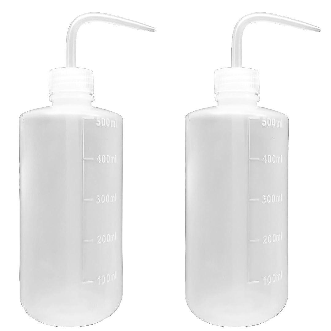 絵ゴールドセグメント500ml ラボ プラスチックペットス クイズ 化学洗浄ボトル で狭い 丸型洗浄瓶 (2個)