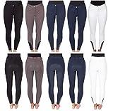PFIFF Sanja - Pantalones de equitación con Agarre de Silicona para Mujer, Color Blanco, Talla 36