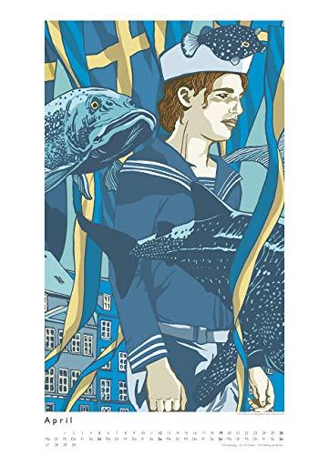 Kat Menschik illustriert Weltliteratur – Literarischer Posterkalender in Bildern 2020 – Wand-Kalender von DUMONT – Format 49,5 x 68,5 cm - 6