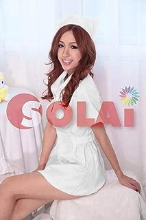 SOLAI セクシー コスプレ ナース 看護婦 天使 制服 看護師 白衣 (白)