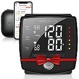 Mocacare Tensiomètre électronique au poignet, bluetooth Mocacuff, facile à emporter, mesure tension artérielle détecteur d'arythmie cardiaque et hypertension