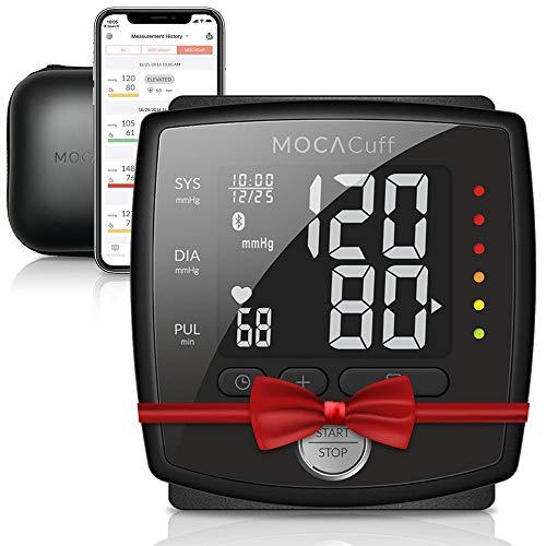Mocacare Misuratore di Pressione da Polso Bluetooth, Mocacuff wireless Bluetooth collegato a...