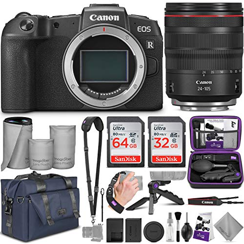 Canon EOS RP Mirrorless Digital Camera and Canon RF 24-105mm Lens with Altura Photo Complete Accessory and Travel Bundle