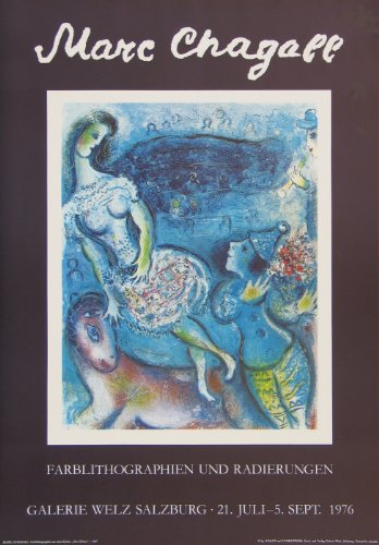 Art-Galerie Kunstdruck/Poster Marc Chagall - Zirkus - 48.0 x 69.0cm - Premiumqualität - Made IN Germany SHOPde
