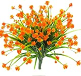 Artificial Mazheny Faux Flowers, 4 pcs Resistente ao ar livre UV Greenery Grebs Plantas Interior Exterior Suspenso Plantador de Casamento Decoração de jardim em casa