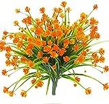 Mazeu artificial Faux flori, 4pcs rezistent la exterior UV Verdea arbuști Plante de interior exterior Suspendat Cantitate de nunta Home Garden Decoratiuni