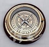 "Aysha Nautical Antique Brass Magnifying/Navigational/Magnetic 6"" Sailing Ship/Boat Desk Compass"