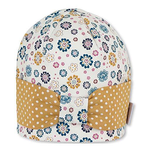 Sterntaler Baby-Mädchen Schirmmütze m. Nackenschutz Beanie-Mütze, Ecru, 49