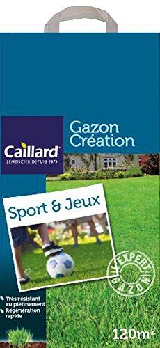 Caillard PFSC19804 Graines de Gazon Sport et Jeux 5 kg 200 m²