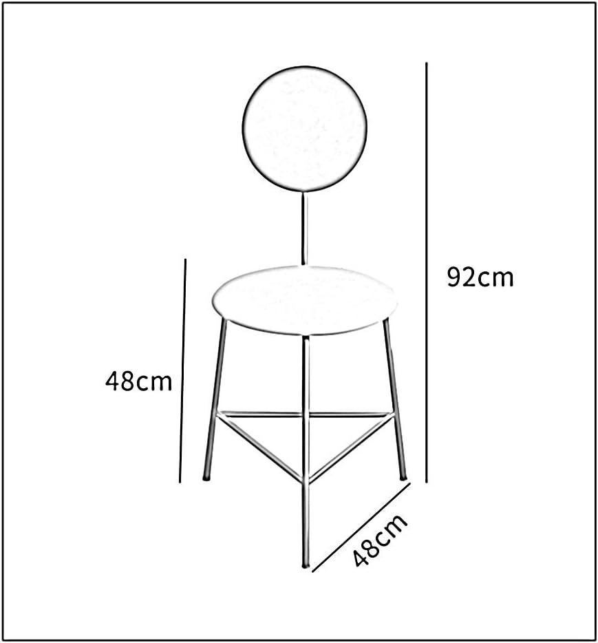 YNGJUEN Chaise En Métal Simple, Cadre En Fer Noir, Cadre D'or, Éponge À Haute Densité, Couleur Rouge, Dos Rose, Salon Confortable, 48cm * 48cm * 92cm (Color : D) C