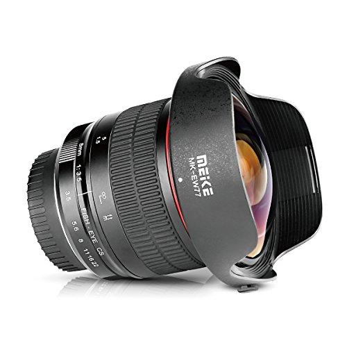 Meike FBA_MK-8MM-3.5 Rectángulo Meke Ultra Gran Angular de 8mm F/3.5Enfoque Manual Objetivo Ojo de Pez para Nikon F DX Soporte APS-C DSLR Cámaras