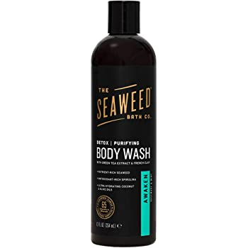 The Seaweed Bath Co. Purifying Detox Body Wash, Awaken Scent (Rosemary and Mint), 12 fl. oz.
