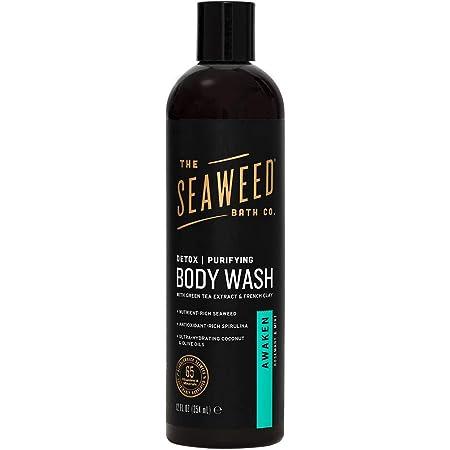 Amazon Com The Seaweed Bath Co Hydrating Body Wash Lavender Nutrient Rich Bladderwrack Seaweed Vegan Paraben Free 12 Fl Oz Bath Products Beauty