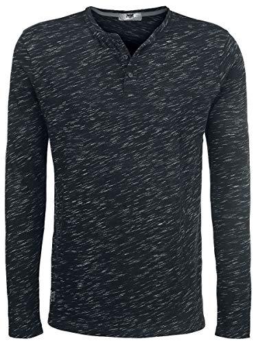 Black Premium by EMP Through The Glass Homme T-Shirt Manches Longues Noir L