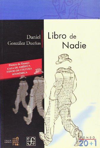 Libro de nadie (Fondo 20+1)