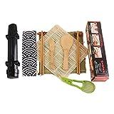 Kit De Preparación De Sushi, Juego De Preparación De Sushi Todo En Uno, Máquina De Sushi Ideal Para Principiantes Con Bazuca De Sushi, Tapete De Sushi Natural, Paleta De Bambú, Esparcidor De Bambú