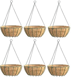 GARDEN KING- 12 INCH- Coir Hanging Basket-with Chain - Coir Hanging POTS for Home Garden (6 Set)
