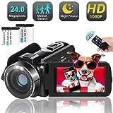 Video Camera Camcorder, 1080p 30FPS Digital YouTube Vlogging Camera Recorder...
