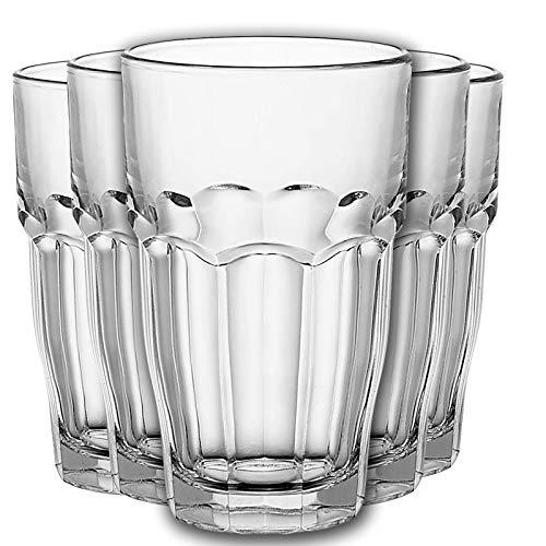 Juego de 6 vasos de agua Highball, juego de 6 vasos de cristal para beber de 365 ml (12 vasos de 365 ml)